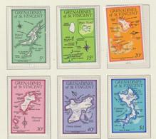 Grenadines Of St.Vincent 1976 Maps 4 Vals. MNH/** (H72) - St.Vincent & Grenadines