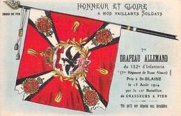 French Postcard German Flag Taken By 132e D'Infanterie 15.8.1914 In St. Blaise, Alsace - Mint (DD33-9) - WW1 (I Guerra Mundial)