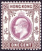HONG KONG 1903 KEDVII 1c Dull Purple & Brown SG62 MH - Gebraucht
