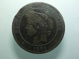 France 10 Centimes 1891 A - D. 10 Centimes
