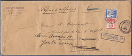"""L. """"Papiers D'affaire"""" En Exprès Affr. N°118+120 Càd BRUGGE /4 VII 1914 Pour BRUXELLES, Réexpédiée (circuit Normal, Pas - 1912 Pellens"""