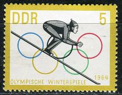 A07-17-7) DDR - Mi 1000 ✶✶ - 5Pf  Wintertolympiade Innsbruck - Ungebraucht