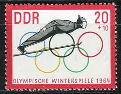 A07-17-7) DDR - Mi 1002 ✶✶ - 20+10Pf  Wintertolympiade Innsbruck - Ungebraucht