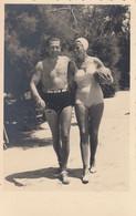 Kaštel Stari - Beach Scene Foto Slavia Split 1939 Nude Man & Woman In Swimwear - Croatia