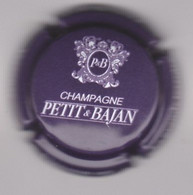 Capsule Champagne PETIT & BAJAN { N°1 : Prune Foncé Et Blanc } {S43-21} - Sin Clasificación