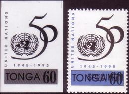 Tonga 1995 - 60s 50th Anniversary Of United Nations - Proof + Specimen - Tonga (1970-...)
