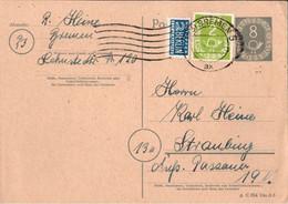 ! Bund 1952, 8 Pfg. Posthorn Ganzsache, Bremen, P11 I. - Postkarten - Gebraucht