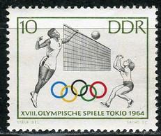 A07-18-1) DDR - Mi 1034 ✶✶ - 1Pf       Sommerolympiade, Volleyball - Ungebraucht