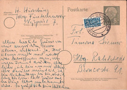 ! 1955 Bund 8 Pfg. Heuss Orts Postkarte Ganzsache, Stpl. Hamburg Finkenwerder, Notopfer Berlin, P18 - Postkarten - Gebraucht