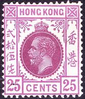 HONG KONG 1921 KGV 25c Purple & Magenta SG126 MH - Gebraucht