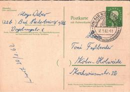 ! 1962 Bund 10 Pfg. Heuss , Postkarte Ganzsache, Niederbreisig, P39A - Postkarten - Gebraucht