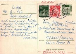 ! 1971 Bund  , Postkarte Ganzsache, Gelsenkirchen Nach Manaos Brasilien - Postkarten - Gebraucht