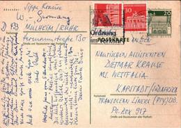 ! Bund  , Postkarte Ganzsache, Mülheim A.d. Ruhr Nach Kapstadt, Südafrika - Postkarten - Gebraucht