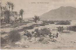 "TUNISIE . GAFSA . Sidi Hamed Zarough (Laveuses à L'Oued) + Cachet Militaria "" Division D'Occupation De Tunisie "" - Tunisia"