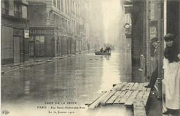 CRUE DE LA SEINE  PARIS  Rue Saint André Des Arts  Le 30 Janvier 1910 RV - Überschwemmung 1910