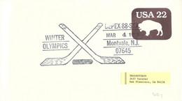 USA Postal Stationary 1988 Winter Olympics Posted Depex-88-Sta Montvale NJ 1988 (DD33-8) - Invierno 1988: Calgary