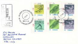 Canada Registered Cover 1988 Calgary Winter Olympics Posted Calgary, Alta STN SUCC. (DD33-8) - Invierno 1988: Calgary