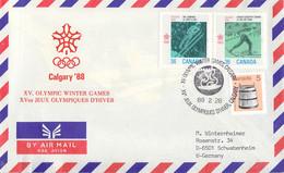 Canada Cover 1988 Calgary Winter Olympics   (DD33-8) - Invierno 1988: Calgary