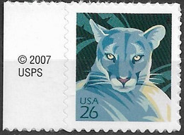 2007 USA Mi. 4208**MNH  Florida-Puma (Puma Concolor Coryi) - Ungebraucht