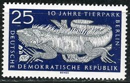 A07-18-2) DDR - Mi 1094 ✶✶ - 25Pf       10 Jahre Tierpark Berlin, Grüner Leguan - Ungebraucht