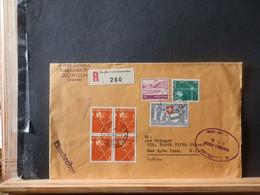 965/822  LETTRE RECOMM. SUISSE  POUR USA  1952  CENSURE - Cartas
