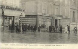 INONDATIONS DE PARIS (Janvier 1910) Quai Malaquais Et Rue Bonaparte - Überschwemmung 1910
