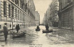 CRUE DE LA SEINE  PARIS  Rue De Lille RV - Überschwemmung 1910
