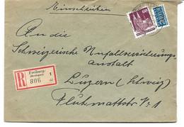 LETTRE RECOMMANDEE POUR LA SUISSE 1950 - Briefe U. Dokumente