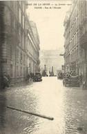 CRUE DE LA SEINE  PARIS   29 Janvier 1910  Rue De L' Arcade RV - Überschwemmung 1910
