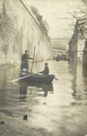 Carte Photo Crue De La Seine PARIS  Barque RV - Überschwemmung 1910