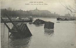 Crue De La Seine PARIS Vue Prise Du Pont De L'Alma  RV - Überschwemmung 1910