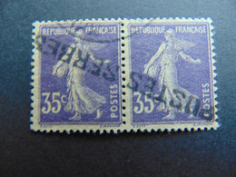 Magnifique Et Rare Paire Du N°. 10 Des Postes Serbes à Corfou Oblitéré Par Oblitération En Caractères Cyrilliques - Guerres