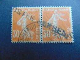 Magnifique Et Rare Paire Du N°. 9 Des Postes Serbes à Corfou Oblitéré Par Oblitération En Caractères Cyrilliques - Guerres