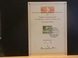 95/845  DOC.  SUISSE 1951 - Cartas