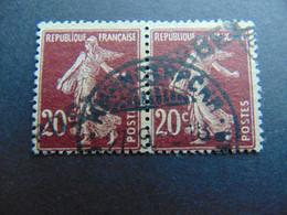 Magnifique Et Rare Paire Du N°. 7 Des Postes Serbes à Corfou Oblitéré Par Oblitération En Caractères Cyrilliques - Guerres