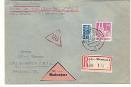 Allemagne - République Fédérale - Lettre Recom De 1951 - Oblit Idar Oberstein - - Briefe U. Dokumente