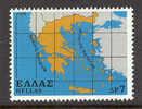 GREECE 1978 Vl.1409 Map Of Greece MNH (D072) - Ongebruikt