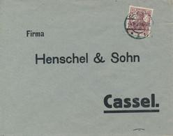CASSEL  - 1920  ,  Perfins / Firmenlochung  -  HENSCHEL & SOHN  -  Brief Nach Cassel - Briefe U. Dokumente