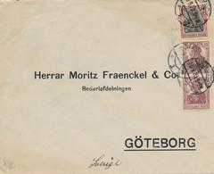 LÜBECK ?  - 1920  ,  Perfins / Firmenlochung  -  S. & J.  -  Brief Nach Göteborg / SE - Briefe U. Dokumente
