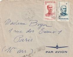 Madagascar Lettre Par Avion De Pilote Air France TANANARIVE  Pour Paris - Covers & Documents