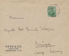 FRANKFURT / M  - 192? ,  Perfins / Firmenlochung  -  MERZ & CO.  Chemische Fabrik  -  Brief Nach Brugg / CH - Briefe U. Dokumente