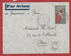 Madagascar Lettre Entier Postal Par Avion TANANARIVE 25/10/1938  Pour Paris - Covers & Documents