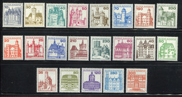 Germany 1977-82. Palaces And Castles. Complete Set. All MINT ** (MNH) 21 Stamps - Ungebraucht