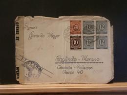 95/886 LETTRE ALLEMAGNE 1946 CENSURE POUR ITALIE - Gemeinschaftsausgaben
