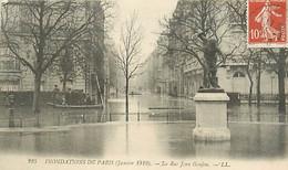 75 PARIS -  INONDATIONS - Rue Jean Goujon - Überschwemmung 1910