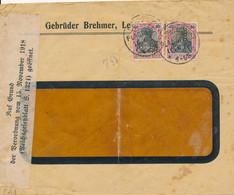 LEIPZIG-PLAGWITZ  -  Perfins / Firmenlochung  -  G.B.  GEBRÜDER BREHMER  -  Brief  , Auf Grund ... Geöffnet . - Briefe U. Dokumente