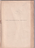 1409 The Czechoslovak Republic 1920 Ed. Pokorny Selver 87 Pages No Front Cover - Europa