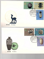 1981 T62 Pottery On 2 Official FDC's (AA-24) - 1980-1989