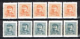 """China - East China """" Definitives """" Mao Zedong """" , Mi. 69 + 71  Ungebraucht / MNH / Neuf - Ostchina 1949-50"""