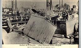 [75] Paris >  ATELIERS DE LA SOCIETE   ECLERAGE    // 11 // - Überschwemmung 1910